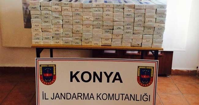 Jandarma 4 bin paket kaçak sigara ele geçirdi