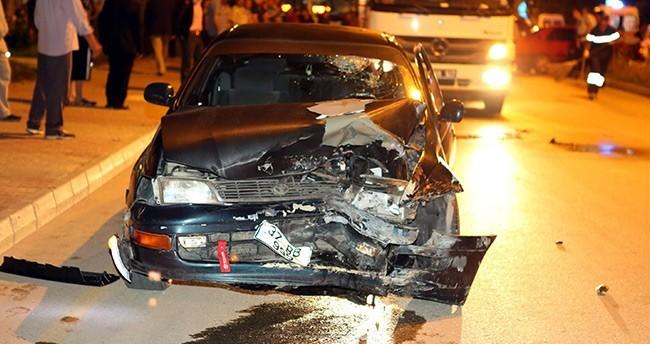 Kastamonu'da iki otomobil çarpıştı : 7 yaralı