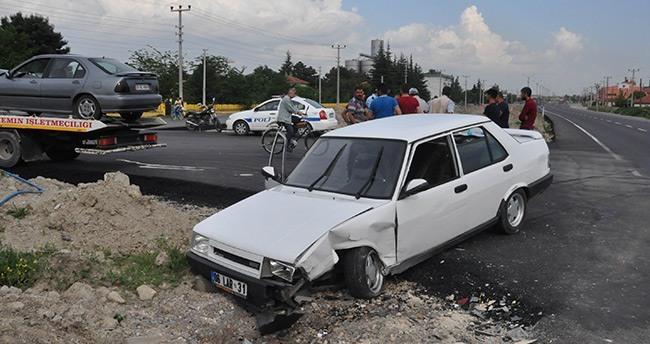 Konya Akşehir'de Trafik Kazası : 1 Yaralı