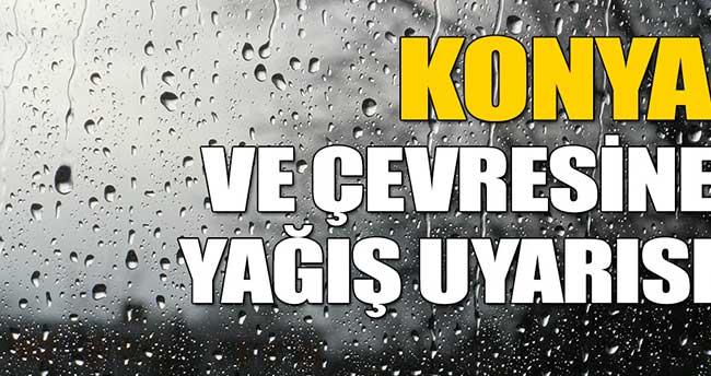 Konya ve Çevresine Yağış Uyarısı