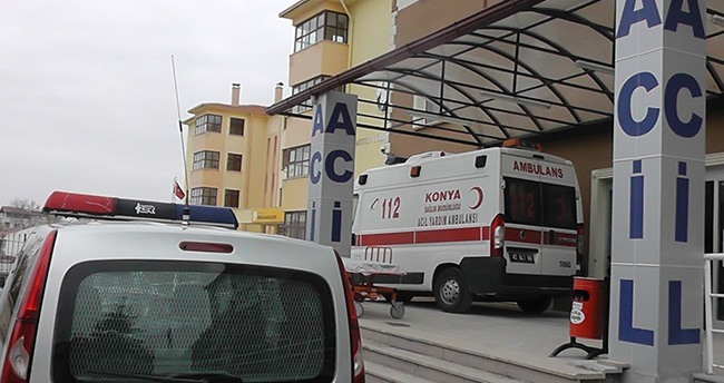 Konya'da Başına Demir Düşen İşçi Ağır Yaralandı