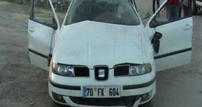 Konya'da Köpeğe Çarpan Otomobil Takla Attı