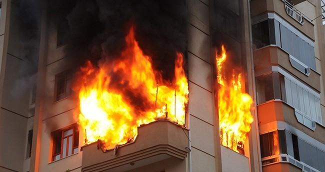 Konya'da korkutan yangın paniğe neden oldu