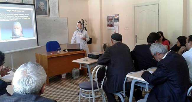 Kulu'da Hacı adaylarına Sağlık konusunda seminer