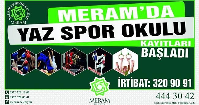 Meram'da Yaz Spor Okulu Kayıtları Sürüyor