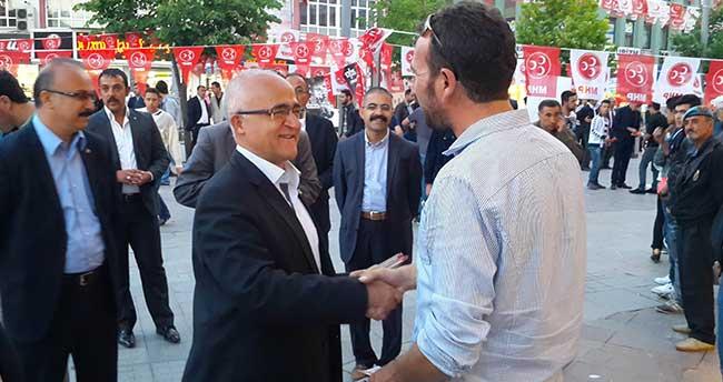MHP adayı Gönen seçim çalışmalarını sürdürüyor