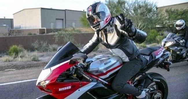 Motosiklet kullananlara egzoz uyarısı
