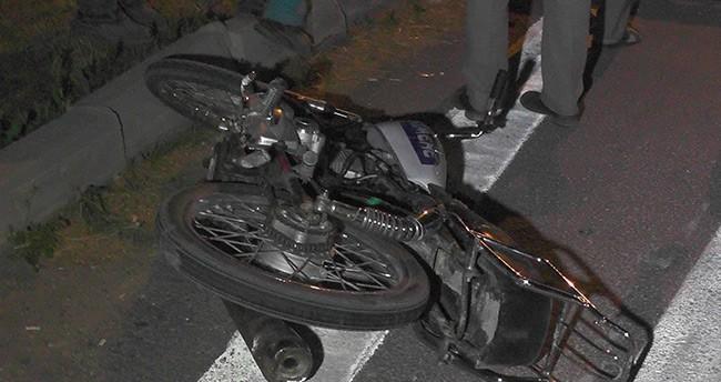 Otomobille Motosiklet Çarpıştı : 1 Yaralı