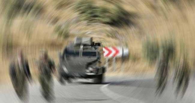 Siirt'te askeri araca taciz ateşi