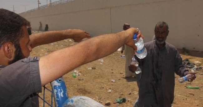 Suriyelilerin ilk istekleri su oldu