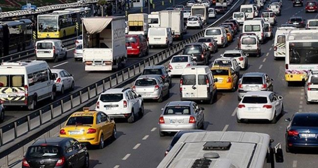 Trafikte toplam kaç araç var?