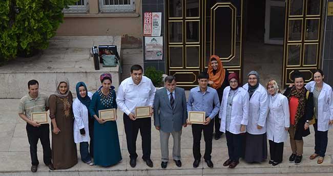 Türkmenistanlı kursiyerlere ciltleme ve restorasyon eğitimi