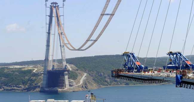 3. köprünün yüzde 70'i tamamlandı