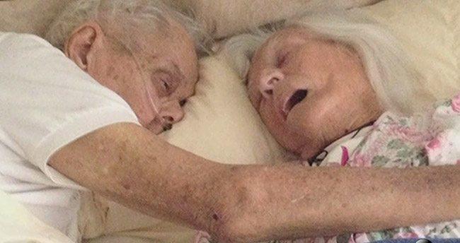 75 yıllık evli çift aynı yatakta vefat etti