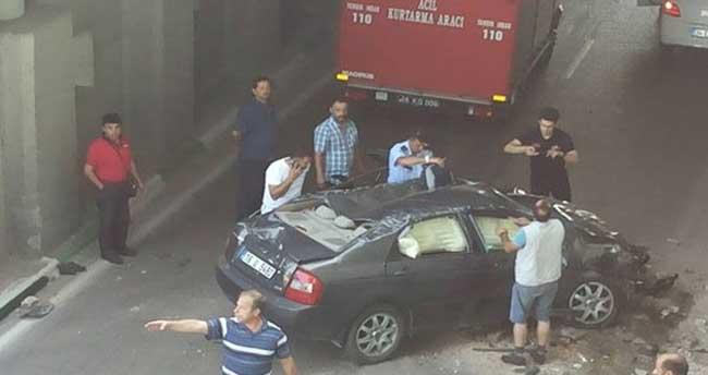 Bursa'da akıl almaz kaza