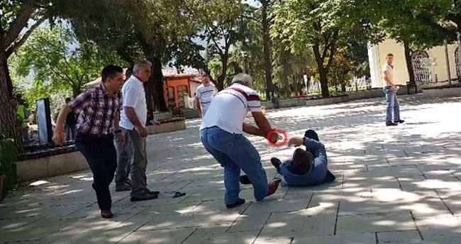 Bursa'da cinayet anı kamerada