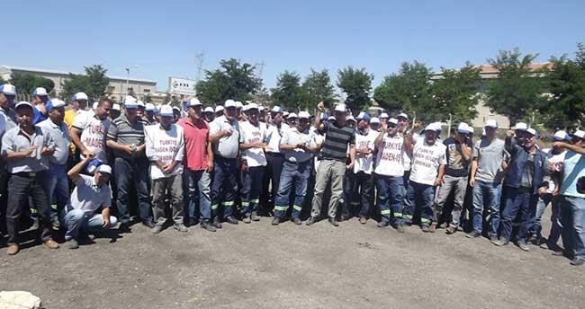 Eti Alüminyum'da İş Bırakma Eylemi