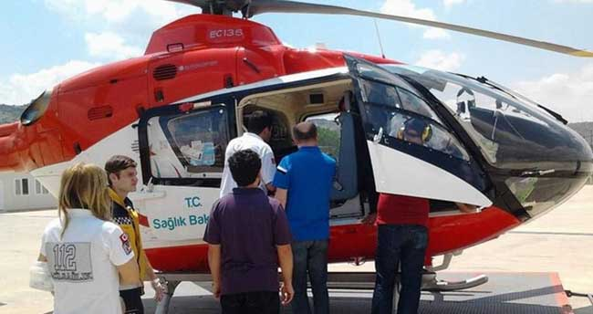 Hava ambulansı 10 günlük bebek için havalandı