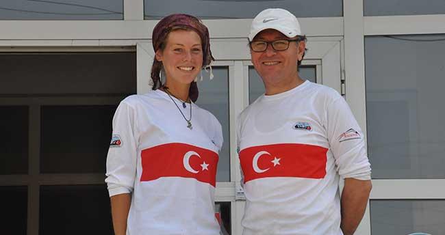 Hollandalı turist Akşehir'de mola verdi