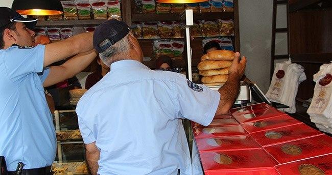 Konya'da ekipler gramajı düşük ekmeklere el koydular