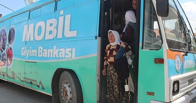 Konya'da Emektar otobüs mobil giyim bankasına dönüştürüldü