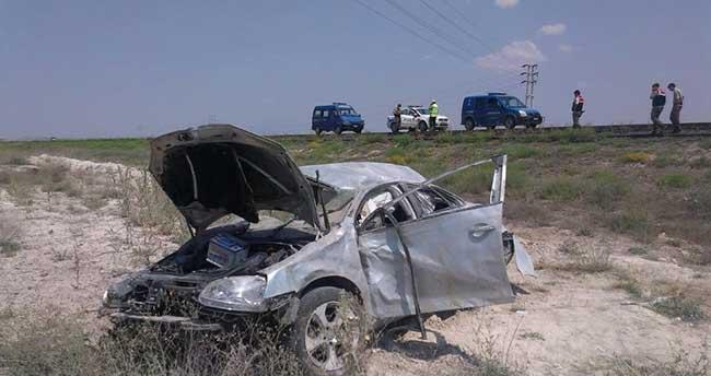 Konya'da otomobil devrildi: 1 ölü, 4 yaralı
