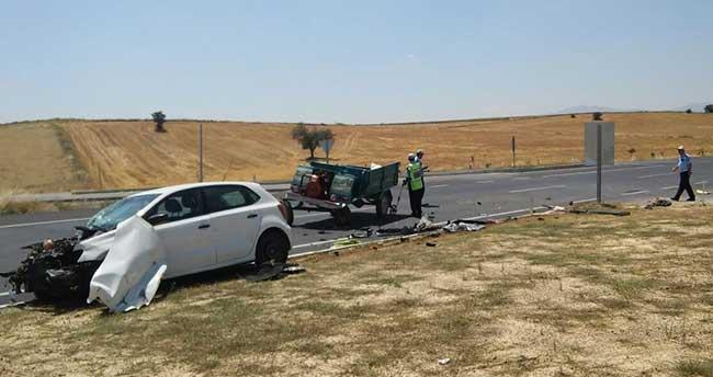 Konya'da trafik kazası: 1 ölü, 1'i ağır 3 yaralı