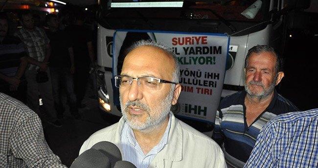 Konya'dan Suriye'ye insani yardım gönderildi
