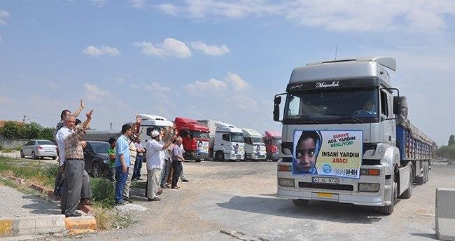 Konya'dan Suriye'ye insani yardım
