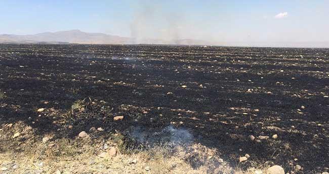 Kulu'da Anız Yangını Güçlükle Söndürüldü