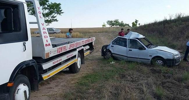 Kulu'da otomobil ile tır çarpıştı : 1 ölü