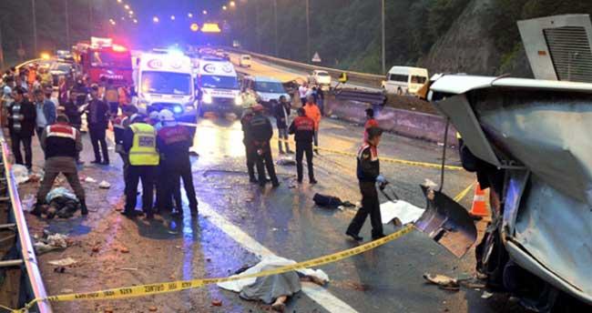 Otobüslerin karıştığı kazalarda ölü sayısı arttı