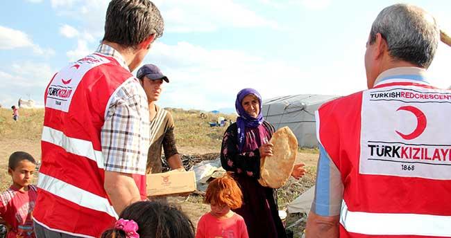 Seydişehir Kızılay'dan Urfalı tarım işçilerine yardım