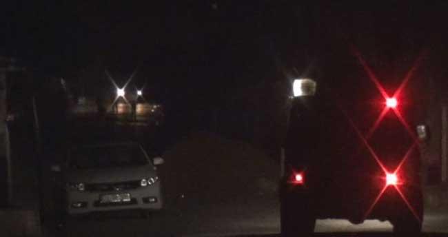 Silopi'de polis aracına molotoflu saldırı