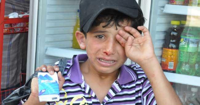 Suriyeli çocuğa esnaftan dayak