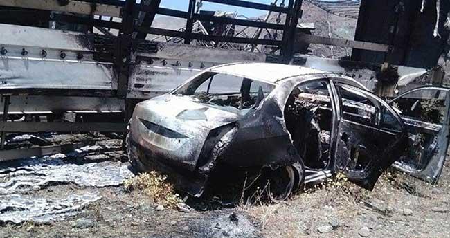 Teröristler Kars'ta tır şoförlerini alıkoymuş
