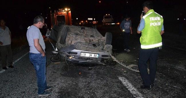 Yozgat'ta otomobil devrildi: 5 ölü