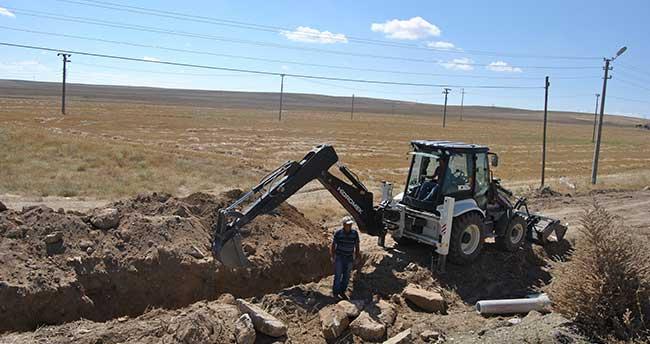 Kulu'da kanalizasyon çalışmaları