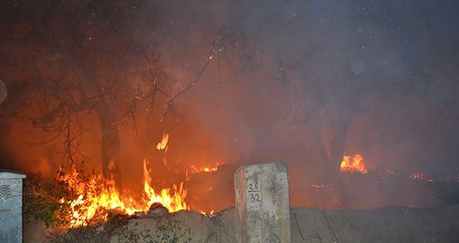 Kulu'da Ot Yangını Korkuttu