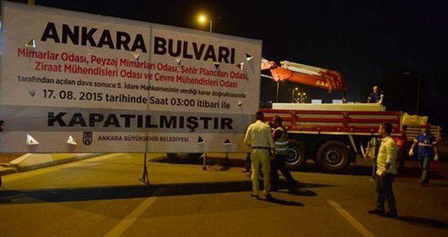 Ankara Bulvarı neden trafiğe kapatıldı?