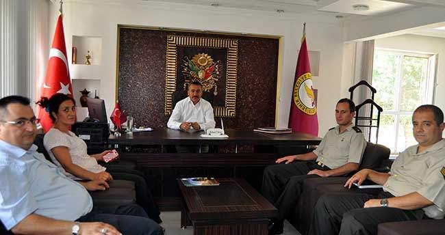 Askerlik Şube Başkanı Ekinci'den Başkan Tutal'a Ziyaret