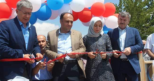 """Beyşehir Gölü'ndeki """"yüzer kafe"""" törenle hizmete açıldı"""
