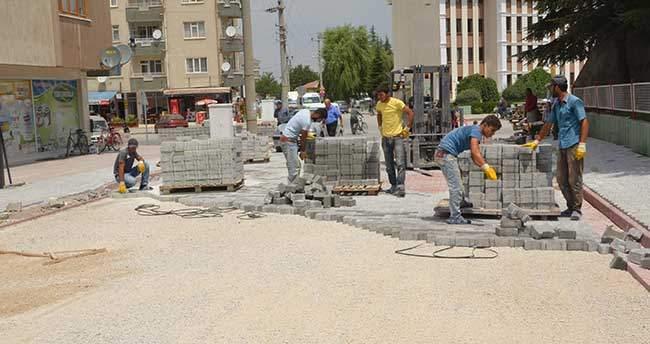 Ereğlide'de Kilitli Taş Çalışmaları