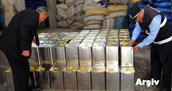 Karaman'da 2 bin 145 litre etiket bilgileri sahte zeytinyağı ele geçirildi