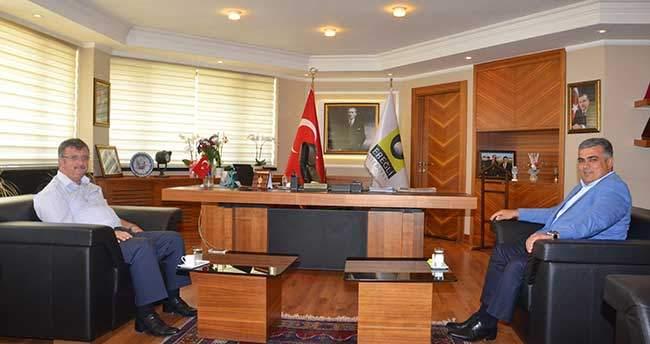 Kaymakam Yaran'dan Başkan Özgüven'e Ziyaret
