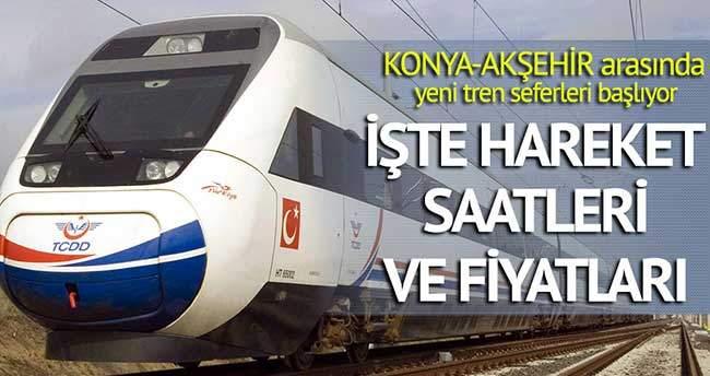 Konya-Akşehir arasında yeni tren seferleri başlıyor