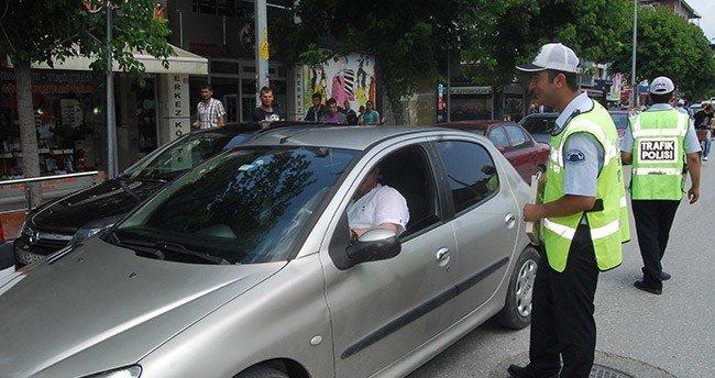 Konya 'da bir haftada 7 bin 756 araç kontrol edildi