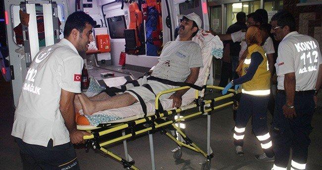 Konya'da bir kişi bıçakla yaralandı