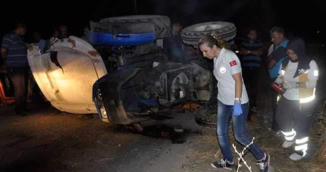 Konya'da devrilen traktörün altında kalan sürücü hayatını kaybetti