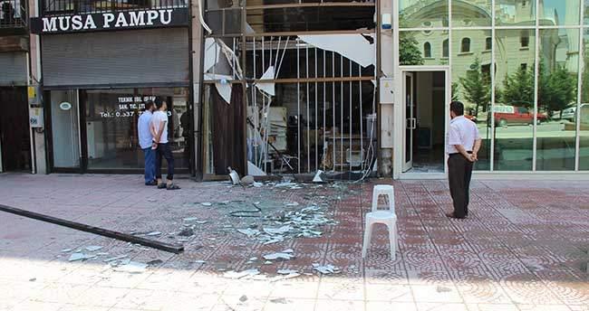 Konya'da iş yerinde gaz sıkışması patlama
